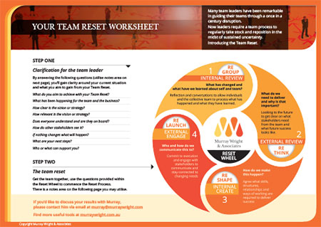 Team Reset Worksheet